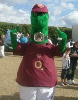 The best dinosaur mascot
