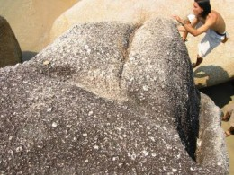 Beach boulders are fantastic as long as you don't fall and maul yourself on the rough edges.