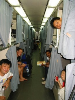 Travel all day by train,