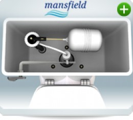 If you have a Mansfield toilet, you will also have to purchase a standard Douglas Style Flush Valve (as seen immediately below).