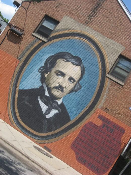 Edgar Allan Poe in brick