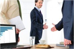 Outside sales reps typically meet prospects at their office to make their sales presentations.