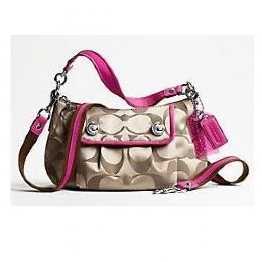 Coach Poppy Sateen Shoulder Bag