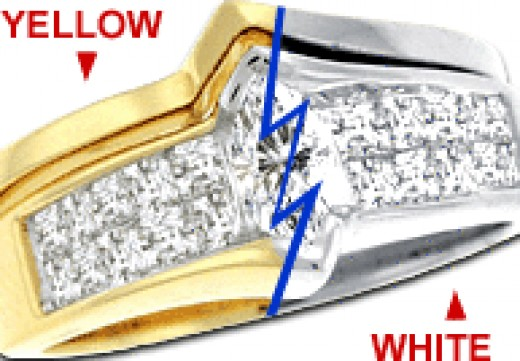 Turn yellow gold into white