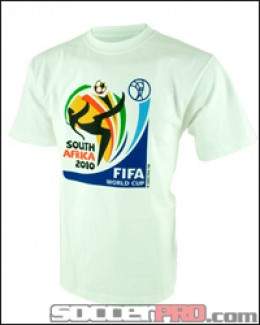 The 2010 World Cup offical T-shirt picture from soccerpro.com