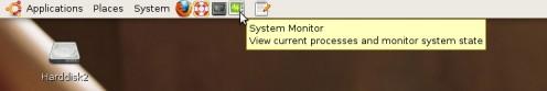 New Ctrl-Alt-Del (System Monitor) shortcut at the top taskbar