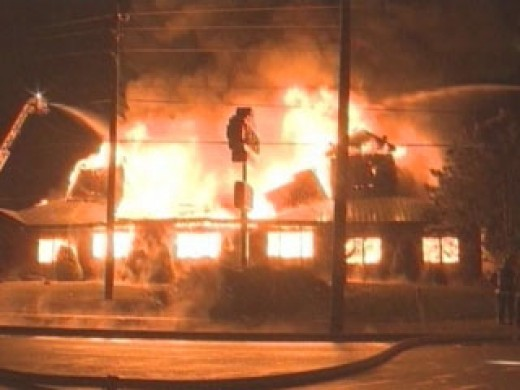 This is a Texas Roadhouse on fire in Warren Township on the east side of Indianapolis.  All-career IFD was called to battle this blaze.