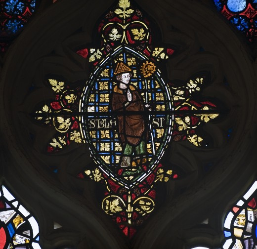 Thomas Beckett Stained Glass Window (Section)