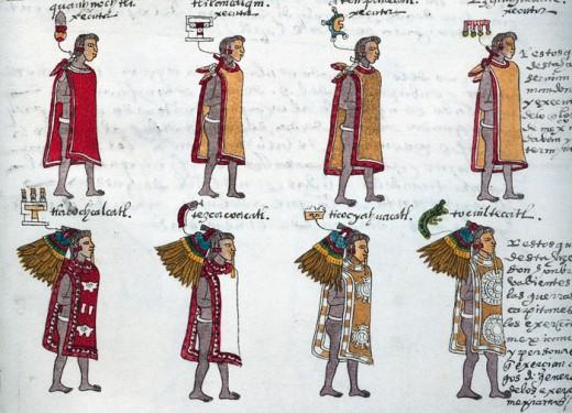 Tilma or tilmtli in nahuatl Image from: Codex Mendoza