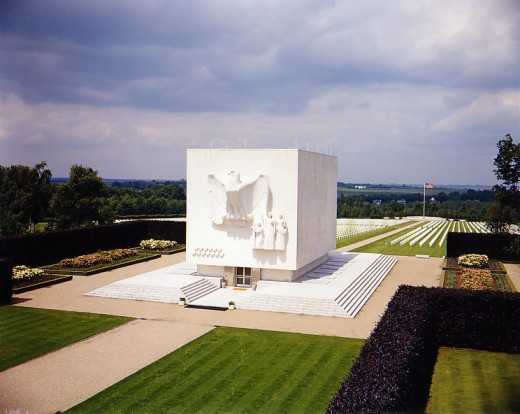 The American Cemetery at Brittany, France.