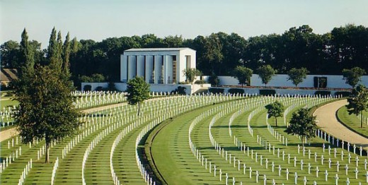 Epinal, France American Cemetery. A total of 5,525 men are buried here.