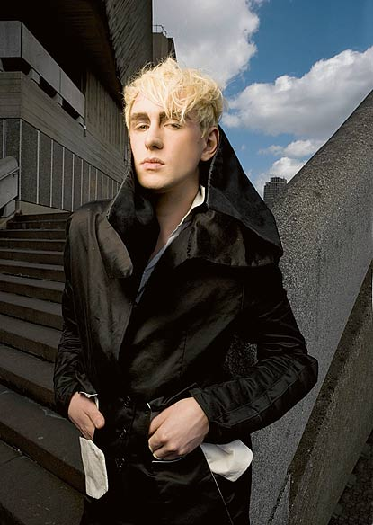"""Patrick wolf in a promotional shoot for his latest album, """"The Bachelor"""""""