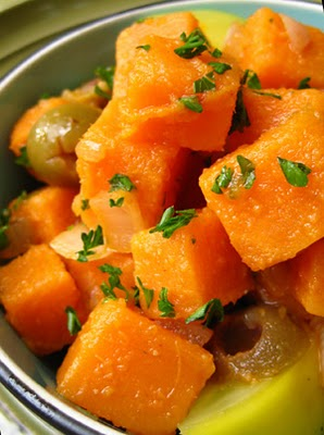 Savory, sweet potato salad - photo from find-my-daily-plate.blogspot.com