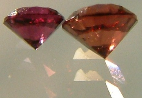 Diamonds come in colors other than transparent. The existence of color tells of about elements incorporated into the diamond that give it certain electrical properties.