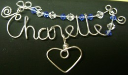 Chanelle name pendant