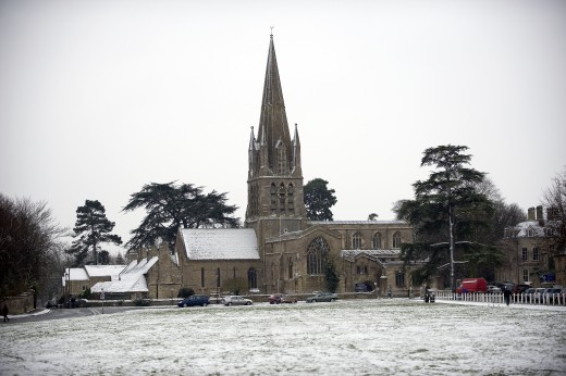 Snow Covered St Mary's Church