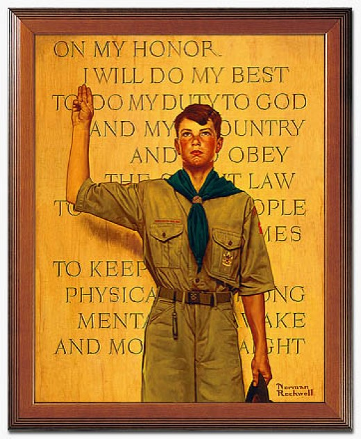 Boy Scout with Oath, Norman Rockwell