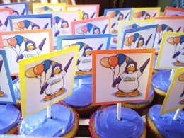 Club Penguin Birthday Cupcakes