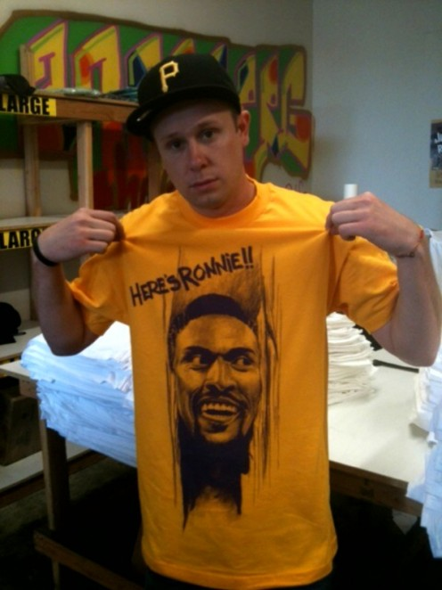 A new design from The Forest Lab, Here's Ronnie, featuring LA Lakers Ron Artest.