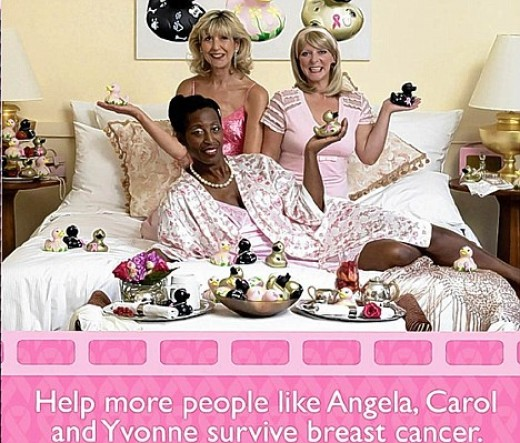Survivors: Angela Cox, Carol Parkinson and Yvonne Brown in the campaign poster shot by Penny Lancaster