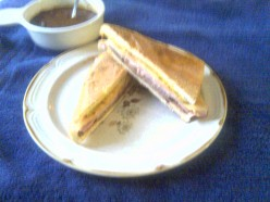 Classic Cuban Sandwich With Black Bean Soup Recipe