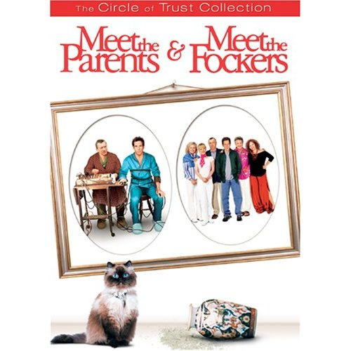 """Enter the """"circle of trust"""" with the cringe-worthy comedy of MEET THE PARENTS and MEET THE FOCKERS. And the real star of the show, Mr. Jinx."""