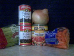 The ingredients for the Black Bean soup, present and accounted for!