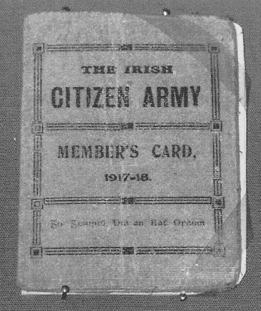 Irish Citizen Army Membership Card 1917