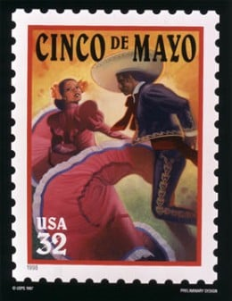 Cinco de Mayo postage stamp issued in 1998