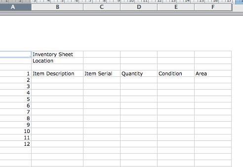 inventory blanks