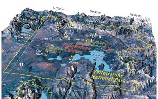 An overview of the Yellowstone volcanic region.