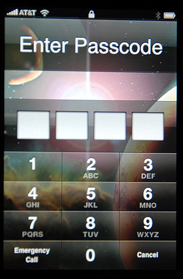 iPhone enhanced security for web applications