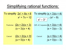 How to simplify rational functions - click to enlarge.