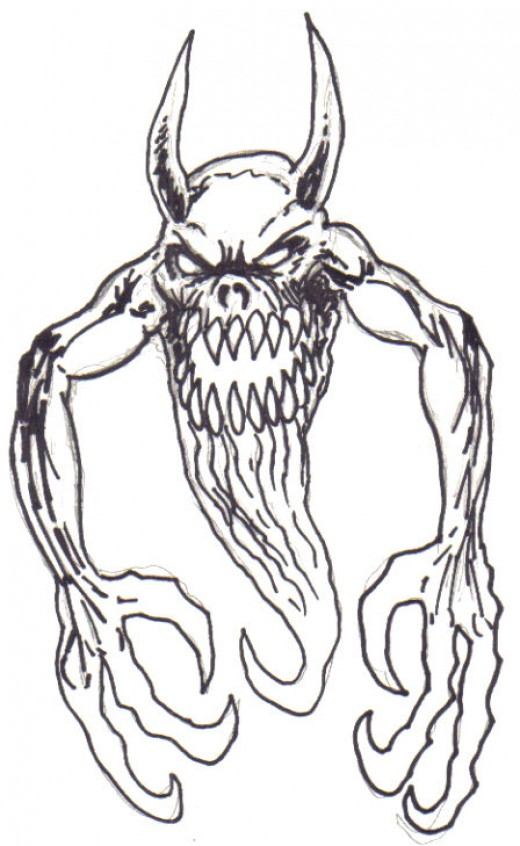 How to Draw Scary Monsters