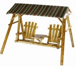 Rustic Canopy Swing | Canopy Swing With Table in the Middle