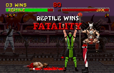 Violent content from Mortal Kombat series