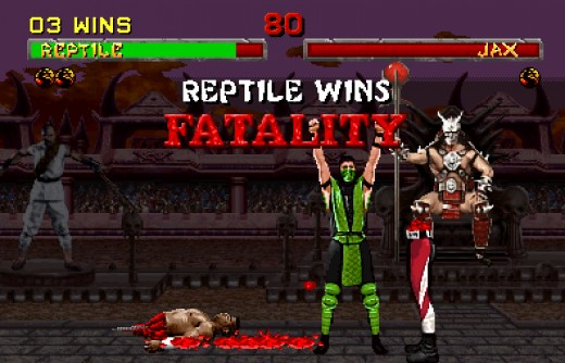 Violent content from Mortal Kombat series