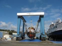Living Aboard Argonaut II: In the Boatyard