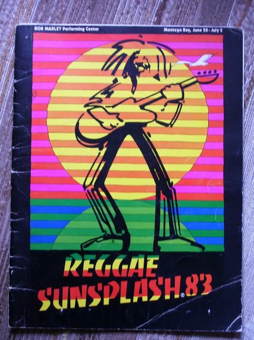 Program from the Reggae Sunsplash, Montego Bay 1983.