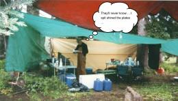 Tarps make a cheap tent