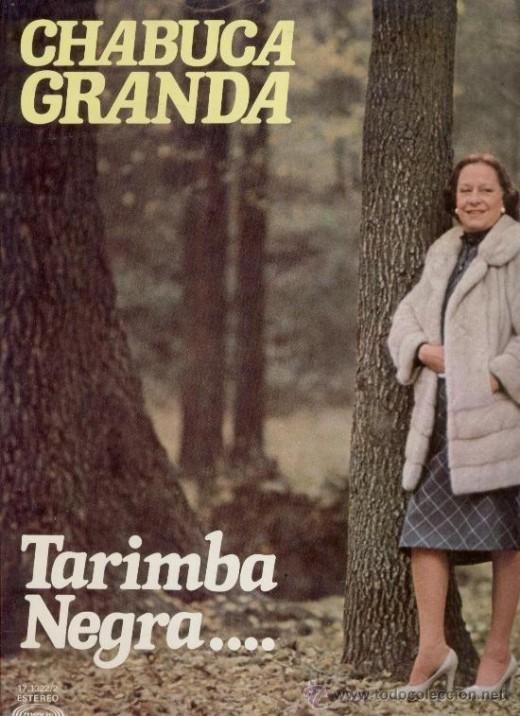 Elegant Chabuca Granda in a forest