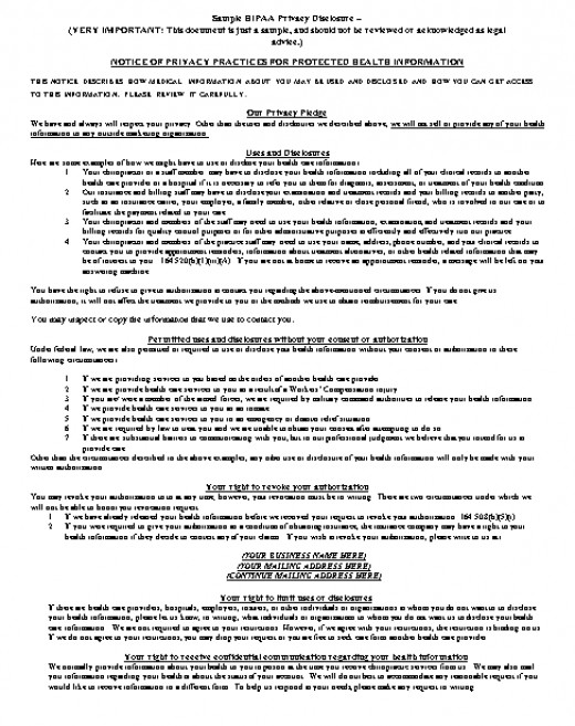 Free Sample HIPAA Patient Release Form – Hipaa Authorization Form