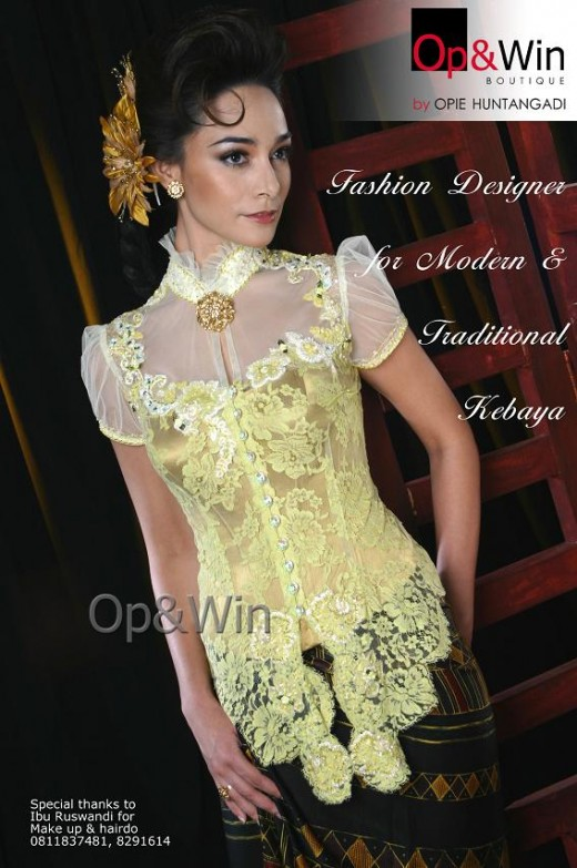 Colonial touch in modern Kebaya
