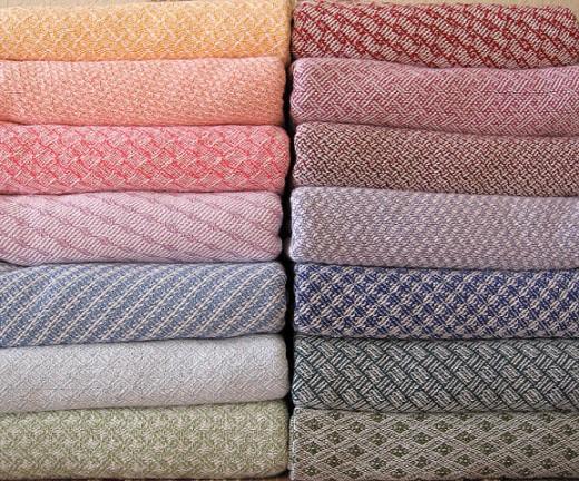 Woven cotton blankets - image from warpedandwonderful.com
