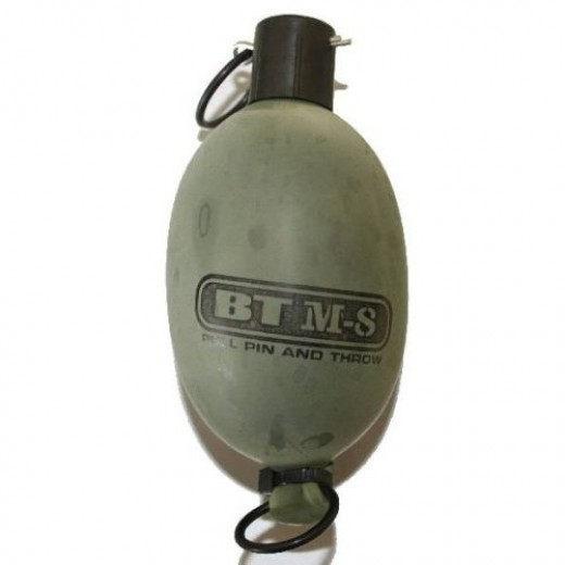 A paintball grenade.