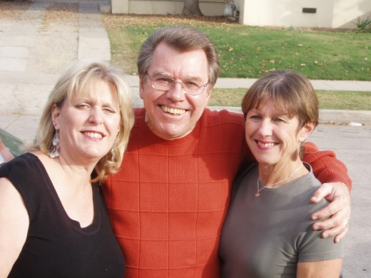"""My two younger wonder-filled sisters.  Marianne on the left and """"old Teri on the right"""
