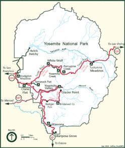 Yosemite Campground Map