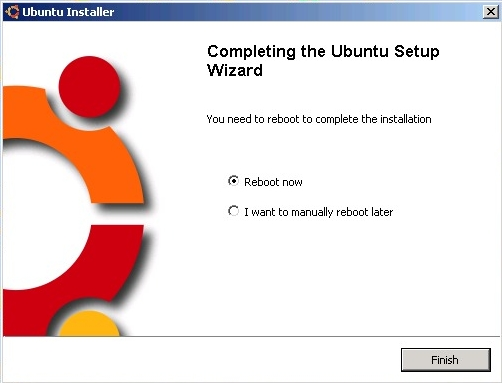 """Completing the Ubuntu Setup Wizard"". We're finished with the Windows part. WUBI didn't mention it anywhere here but upon restarting you're supposed to choose Ubuntu ..."