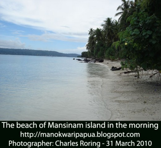 Mansinam island near Manokwari city of Papua
