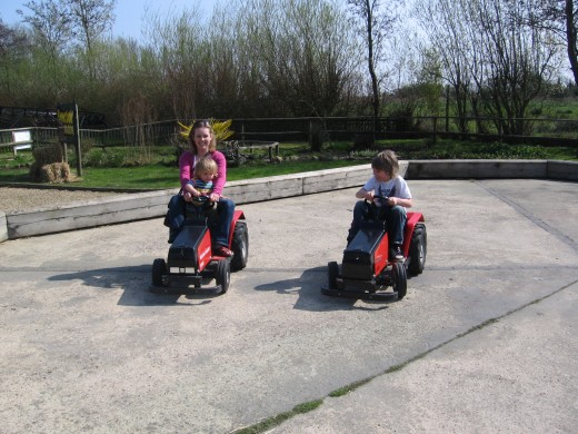 Drag race on tractors!